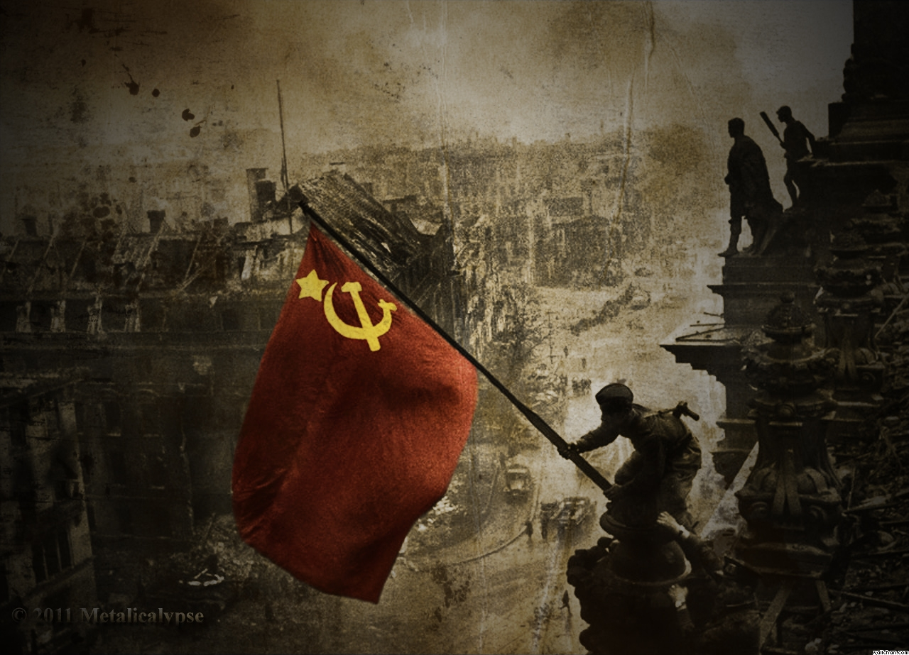 soviet flag over the reichstag 1945