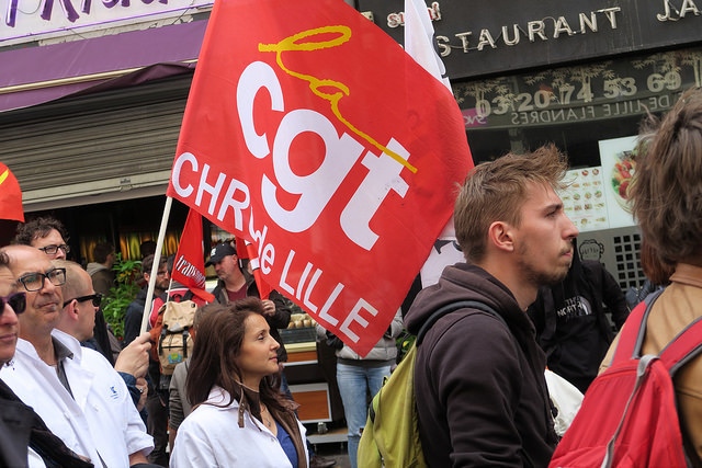 protest cgt lille credit remi ange couzinet