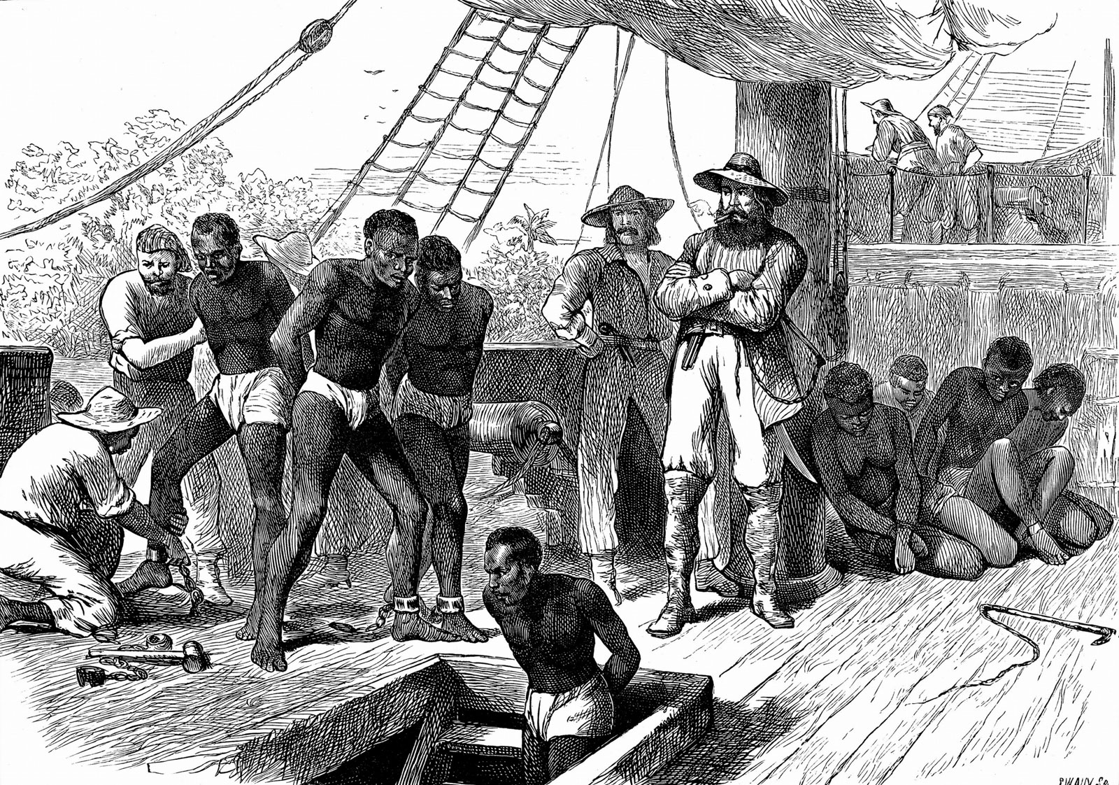 captives African ships Slave Coast slave trade 1880