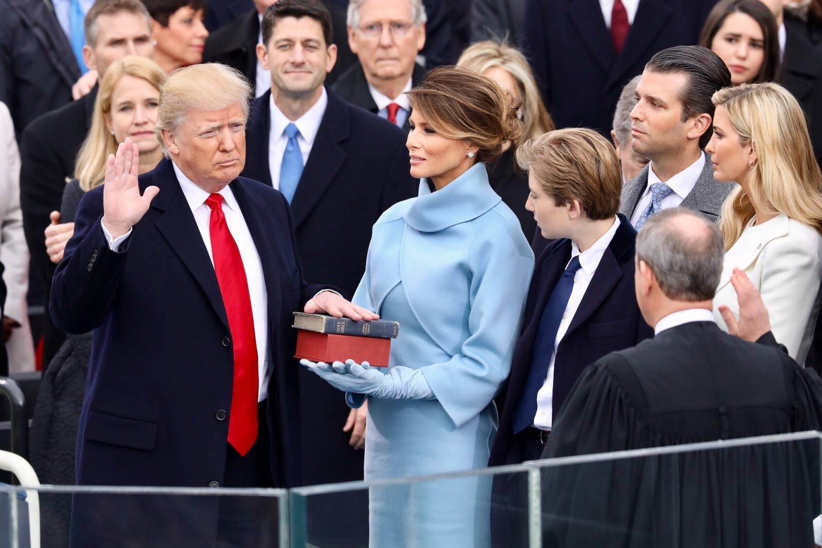 Donald Trump swearing in ceremony Public Domain