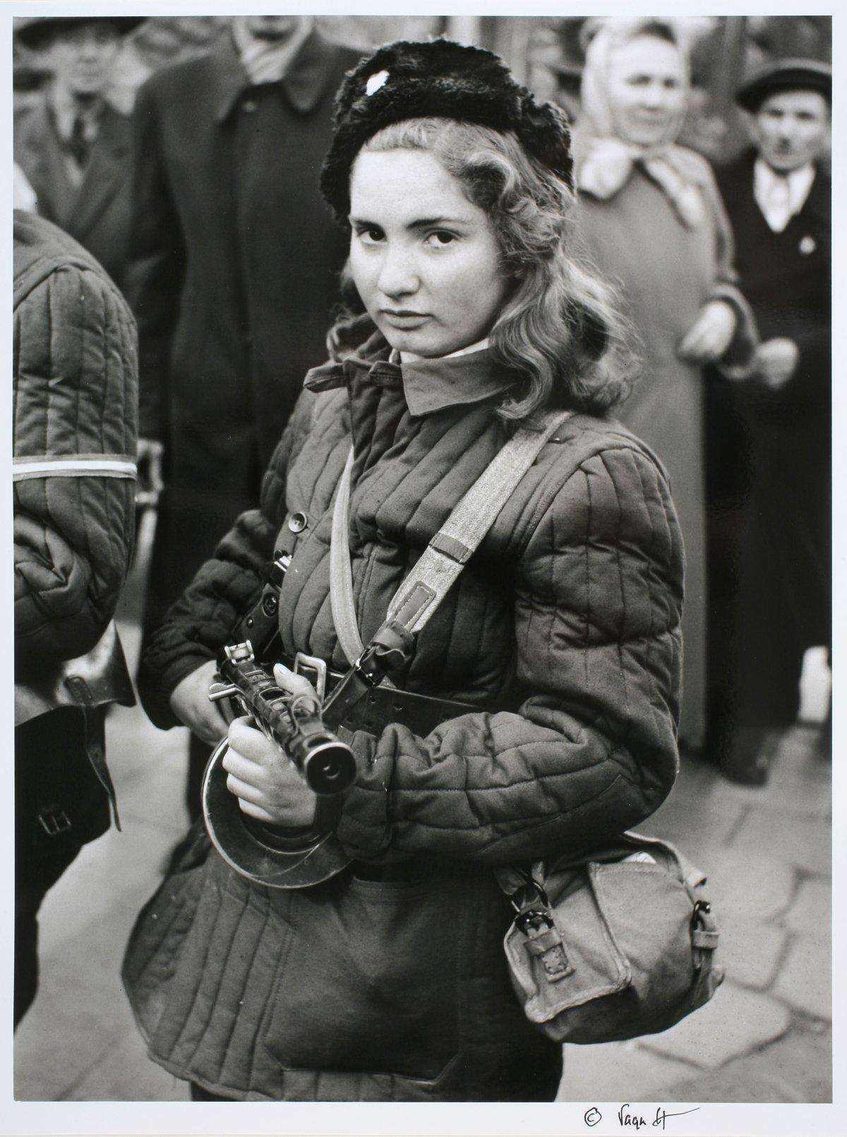 15 year old Hungarian freedom fighter Budapest 1956