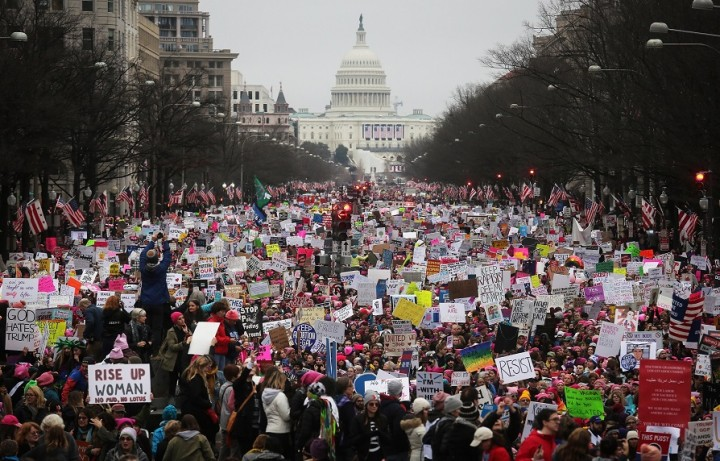 The Womens March following Trumps election was the biggest singleday protest in US history Image public domain